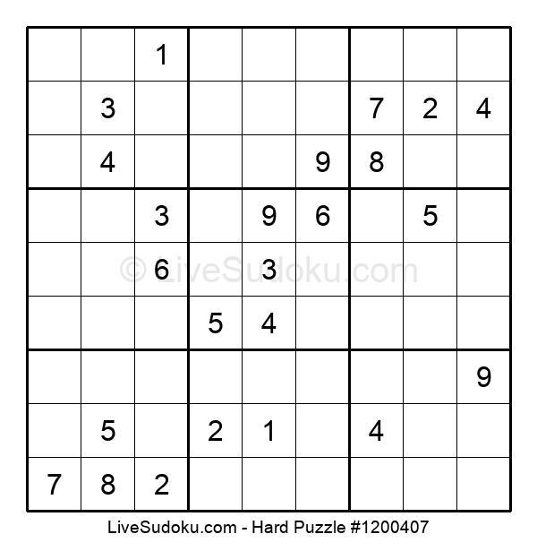 Hard Puzzle #1200407