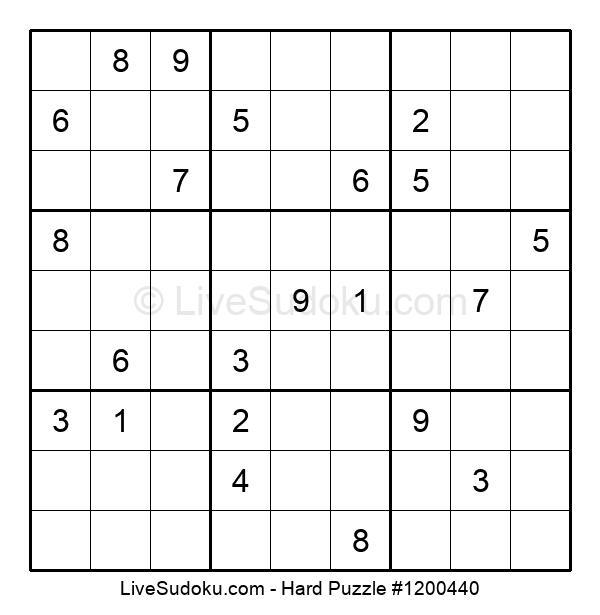 Hard Puzzle #1200440