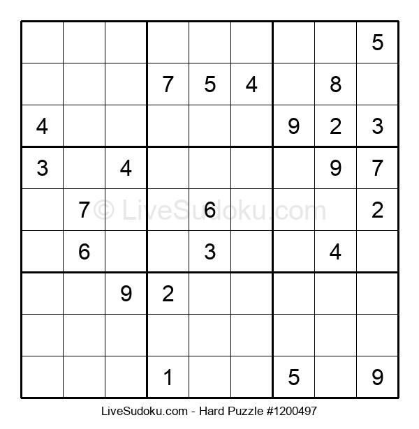 Hard Puzzle #1200497