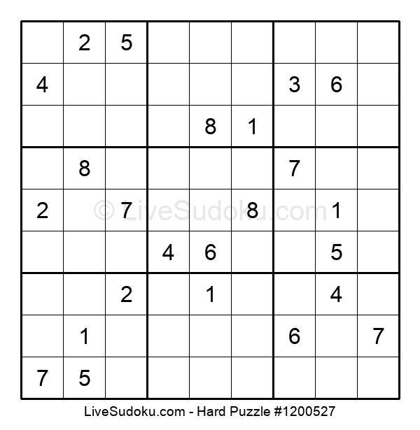 Hard Puzzle #1200527