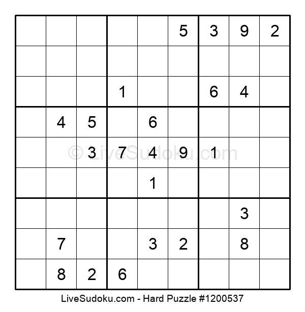 Hard Puzzle #1200537