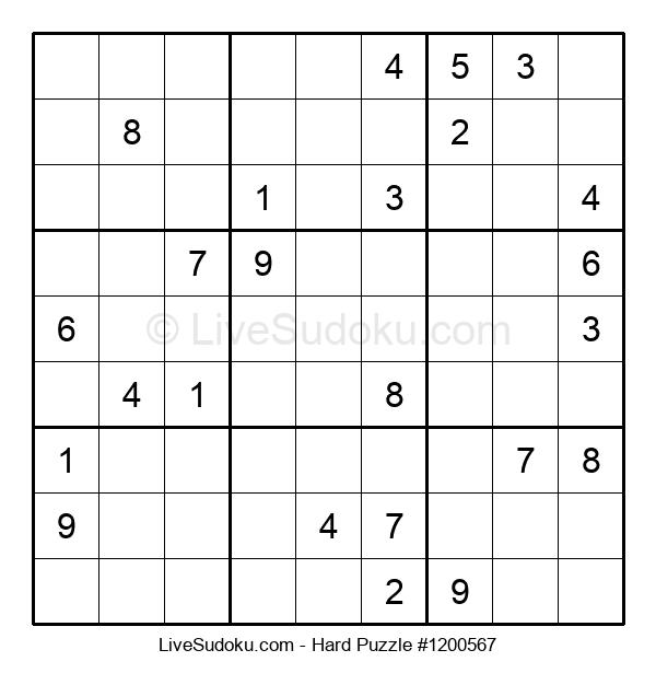 Hard Puzzle #1200567