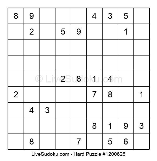 Hard Puzzle #1200625