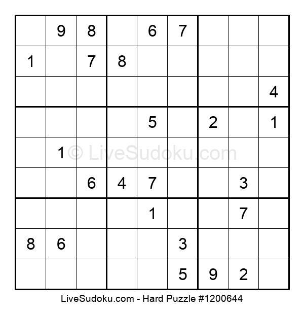 Hard Puzzle #1200644
