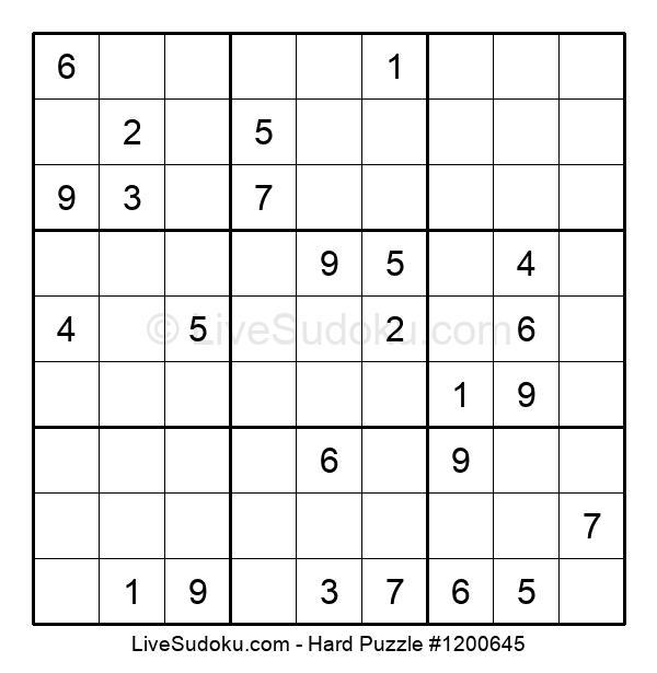 Hard Puzzle #1200645