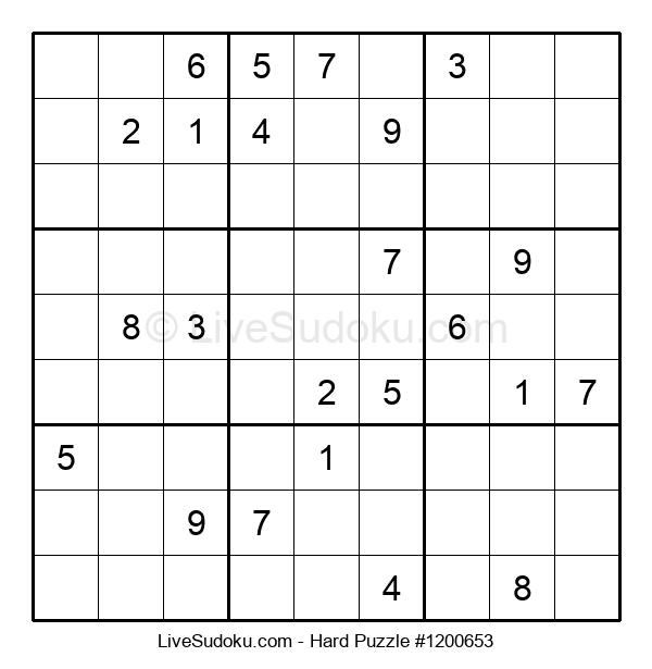 Hard Puzzle #1200653