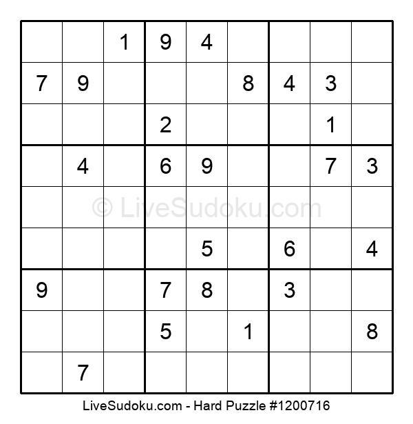 Hard Puzzle #1200716