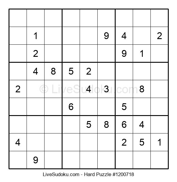 Hard Puzzle #1200718