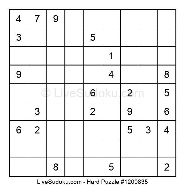 Hard Puzzle #1200835