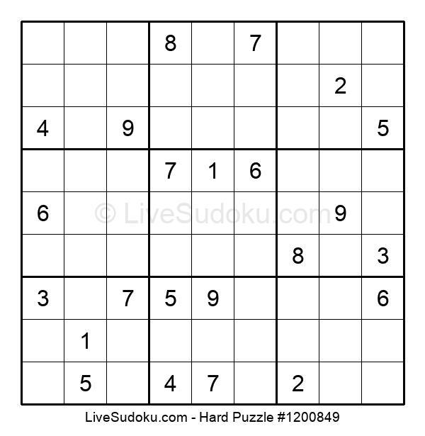 Hard Puzzle #1200849