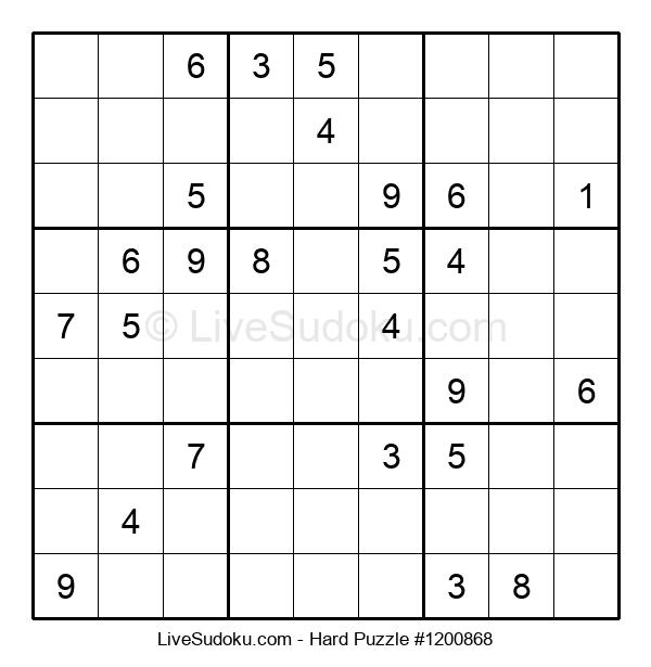 Hard Puzzle #1200868