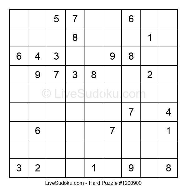 Hard Puzzle #1200900