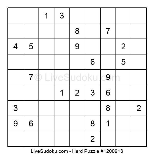 Hard Puzzle #1200913