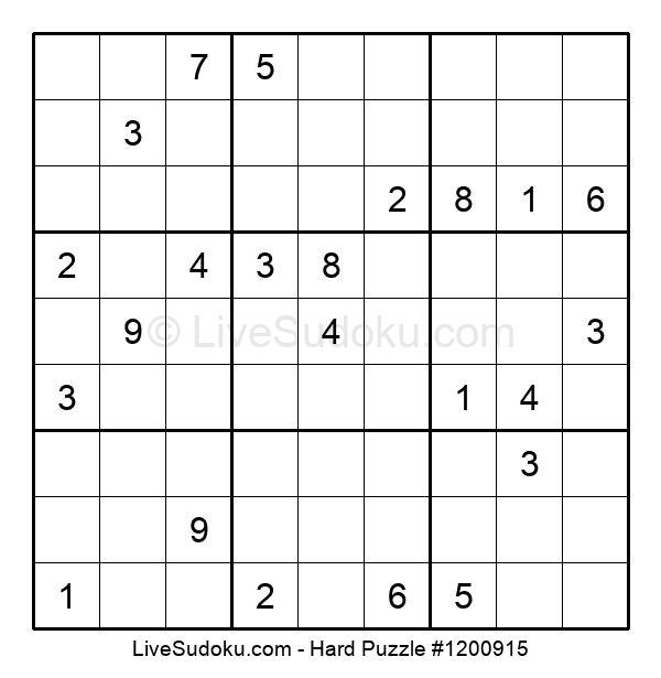 Hard Puzzle #1200915