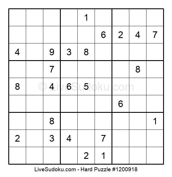 Hard Puzzle #1200918
