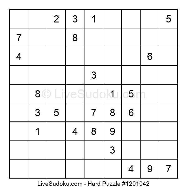 Hard Puzzle #1201042