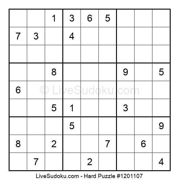 Hard Puzzle #1201107