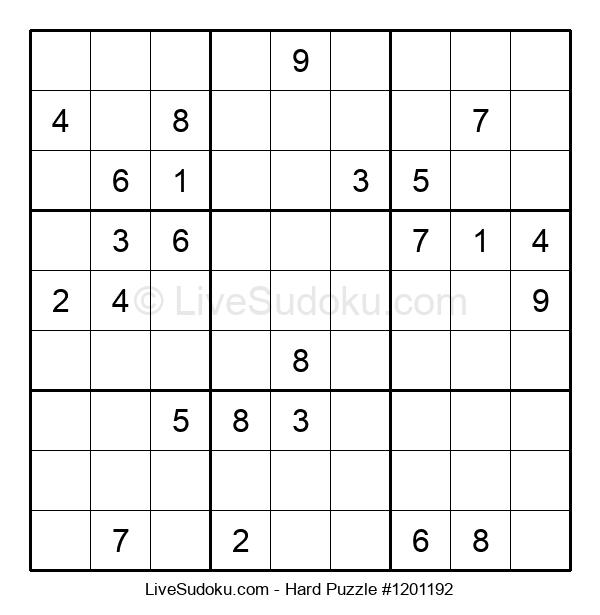 Hard Puzzle #1201192