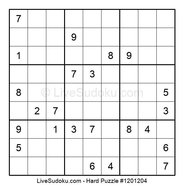Hard Puzzle #1201204