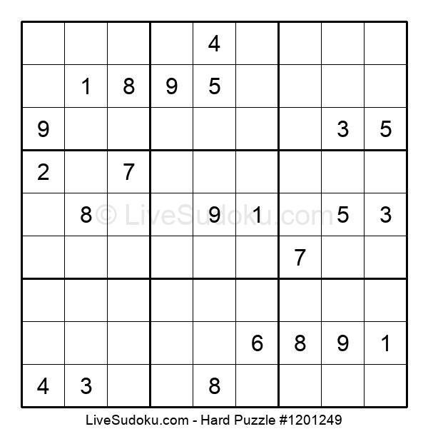Hard Puzzle #1201249