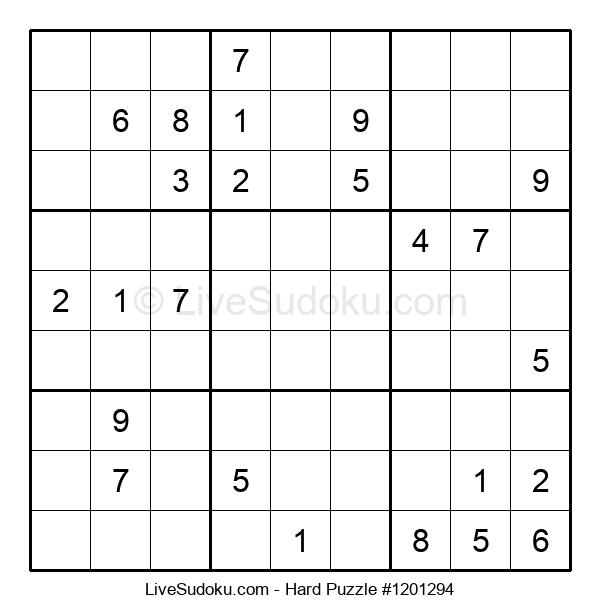 Hard Puzzle #1201294