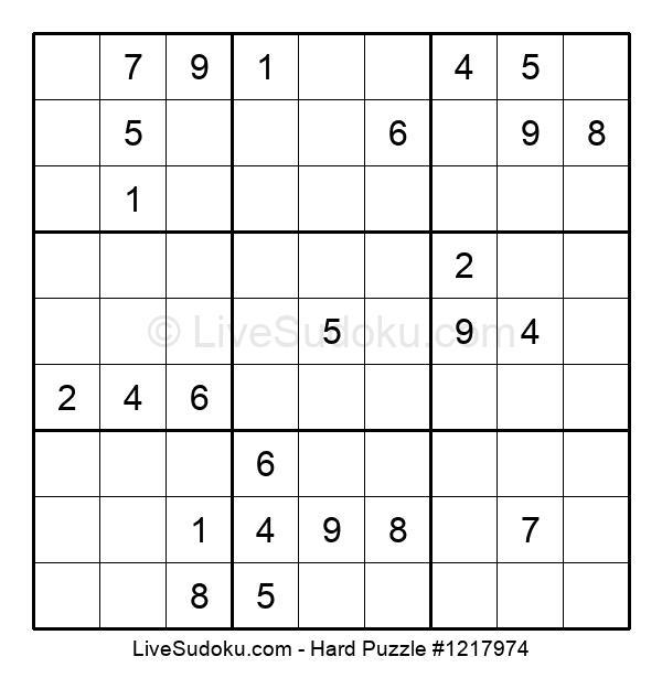 Hard Puzzle #1217974