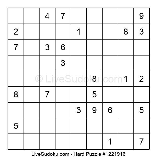Hard Puzzle #1221916