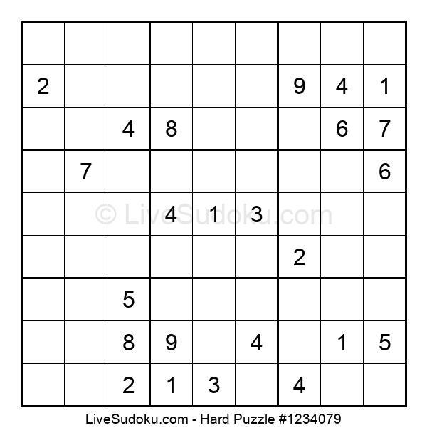 Hard Puzzle #1234079
