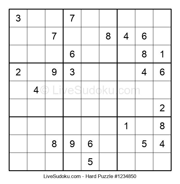 Hard Puzzle #1234850