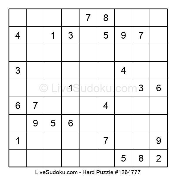 Hard Puzzle #1264777