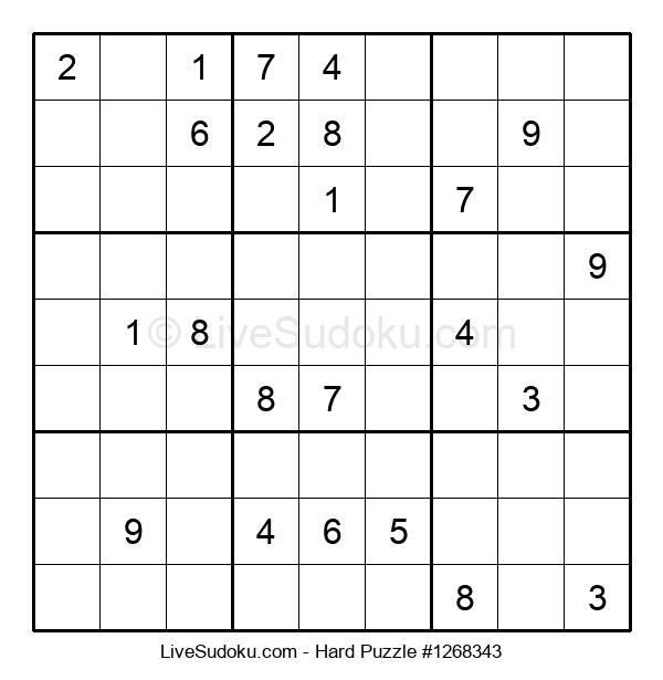 Hard Puzzle #1268343