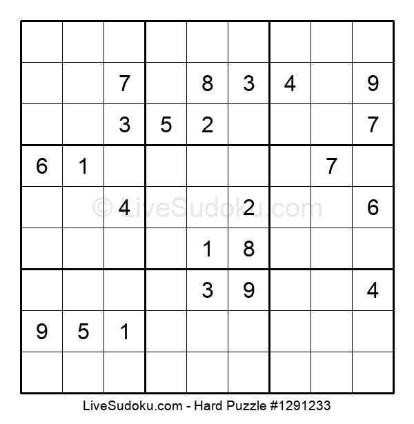Hard Puzzle #1291233