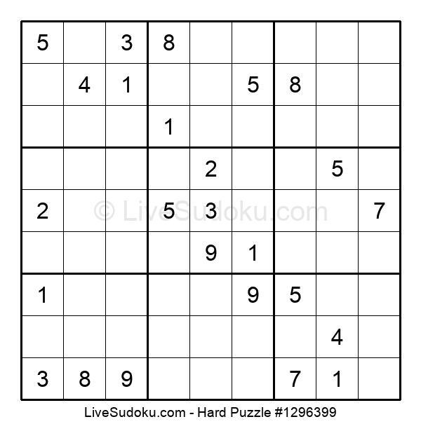 Hard Puzzle #1296399