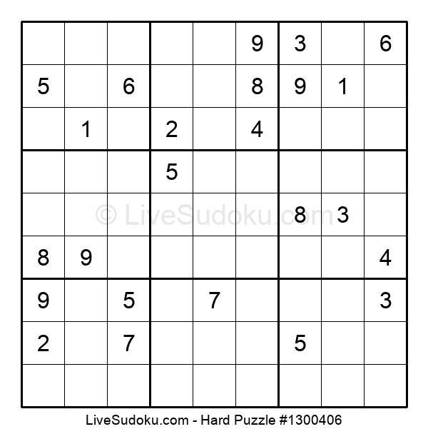 Hard Puzzle #1300406