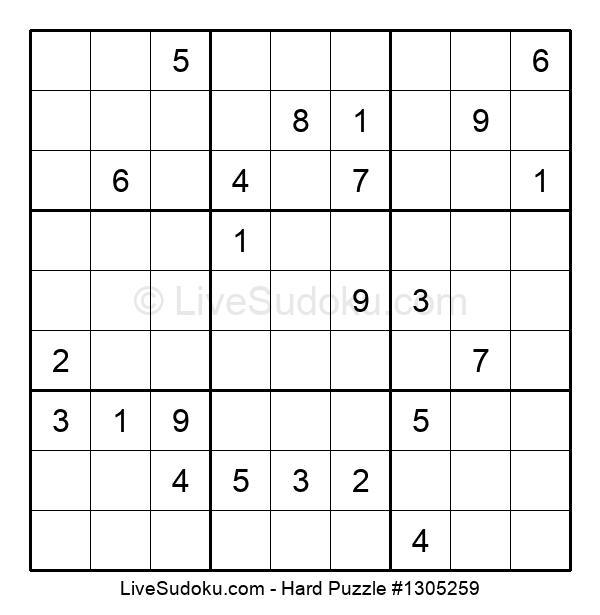 Hard Puzzle #1305259