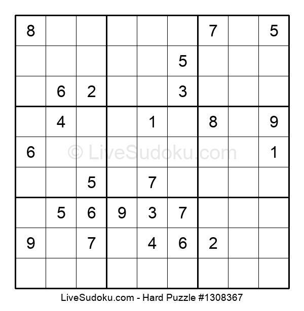 Hard Puzzle #1308367