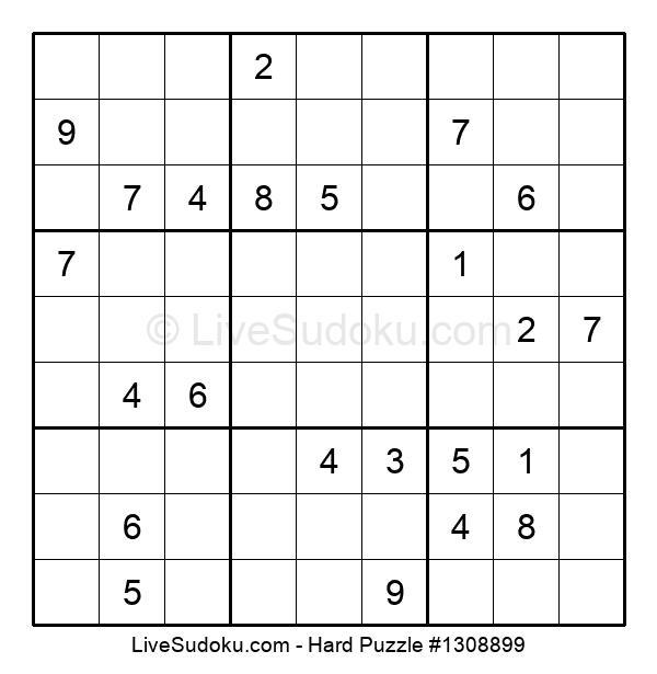 Hard Puzzle #1308899