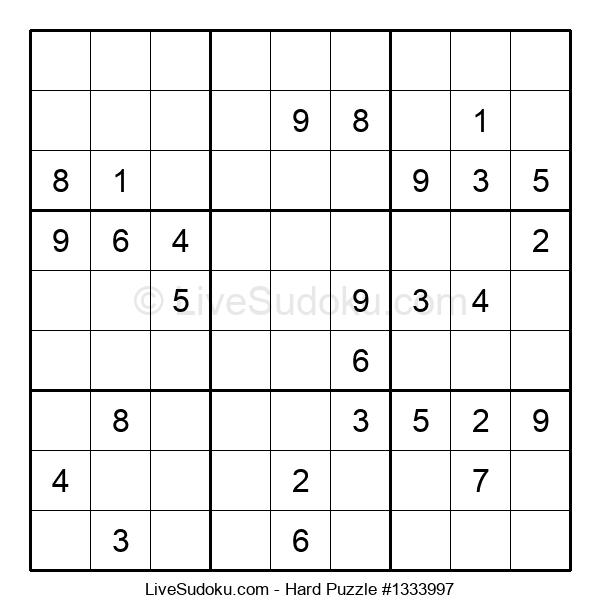 Hard Puzzle #1333997