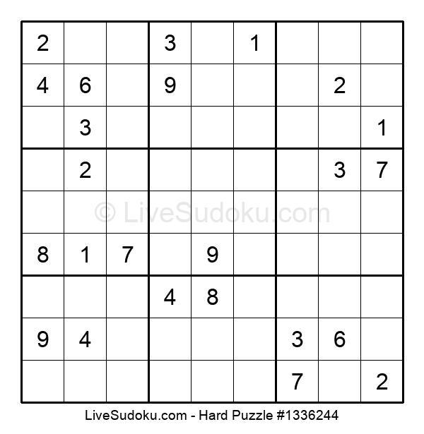 Hard Puzzle #1336244