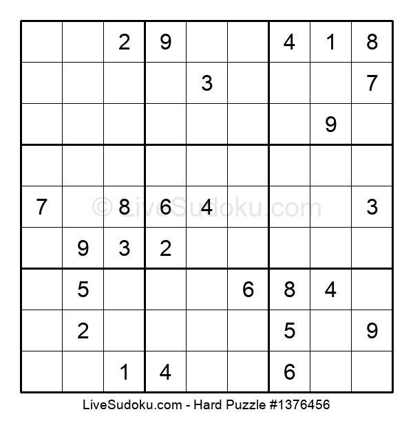 Hard Puzzle #1376456
