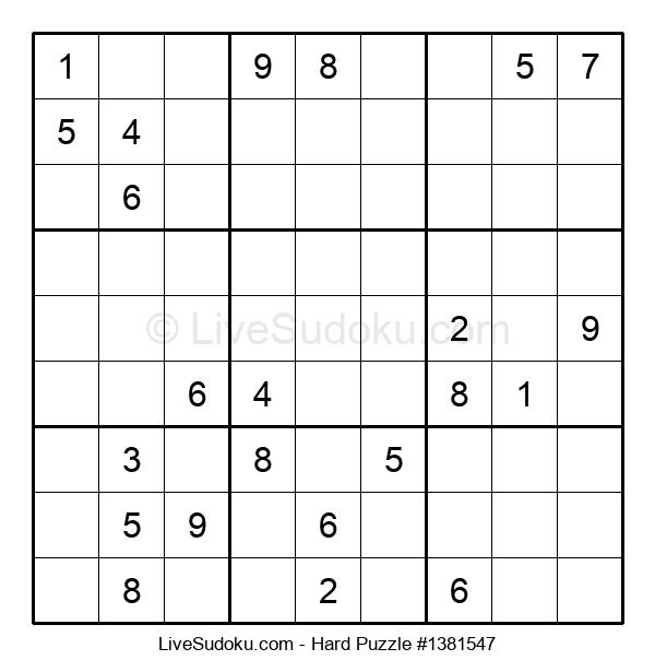 Hard Puzzle #1381547