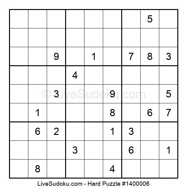 Hard Puzzle #1400006