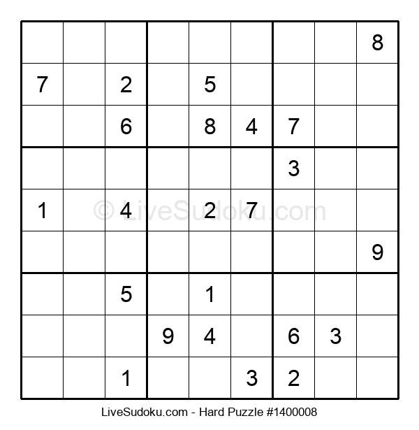 Hard Puzzle #1400008