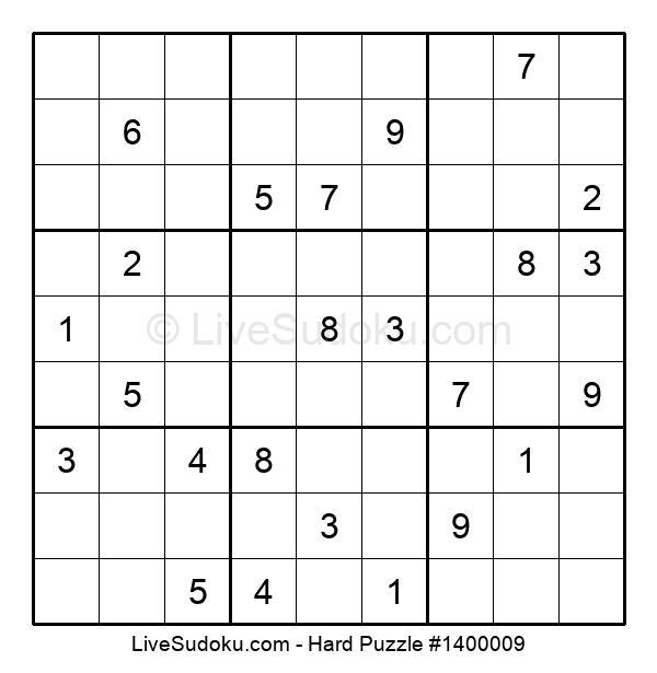 Hard Puzzle #1400009