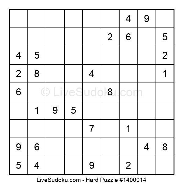 Hard Puzzle #1400014