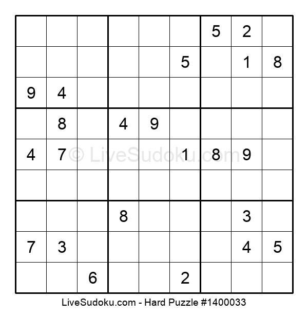 Hard Puzzle #1400033