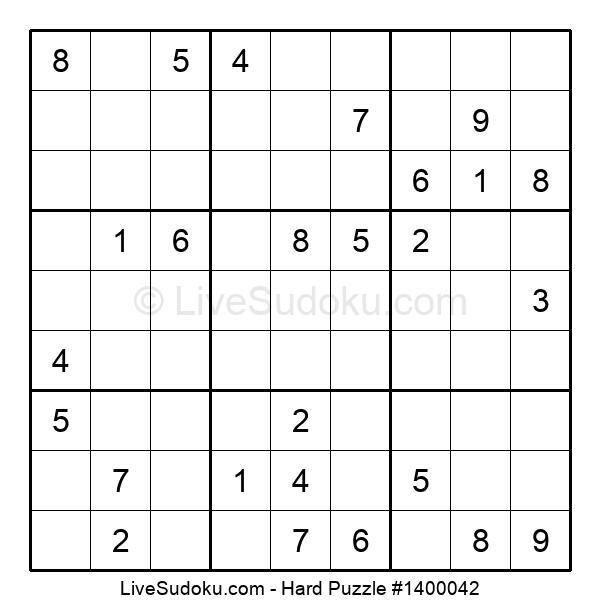 Hard Puzzle #1400042