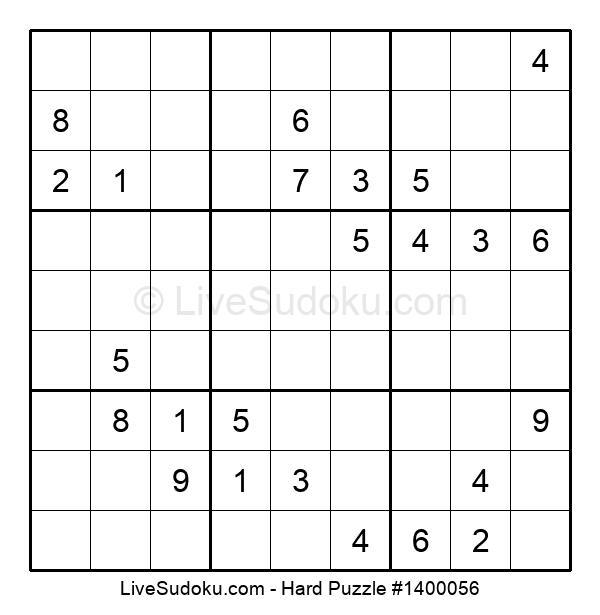 Hard Puzzle #1400056