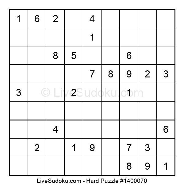 Hard Puzzle #1400070