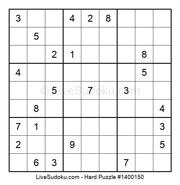 Hard Puzzle #1400150